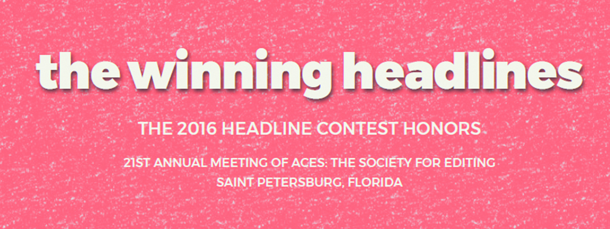 ACES announces 2016 Headline Contest winners at ACES 2017 Conference