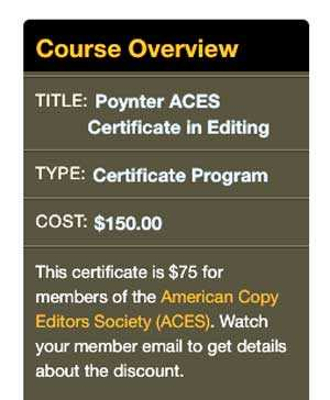 Certificate In Editing Program